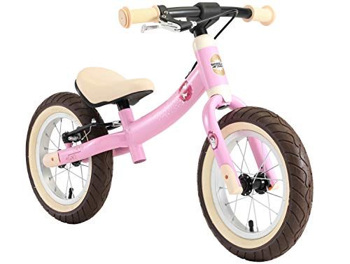 BIKESTAR 2-en-1 Bicicleta sin Pedales para niños y niñas 3-4 años | Bici con Ruedas de 12' Edición Sport | Rosado