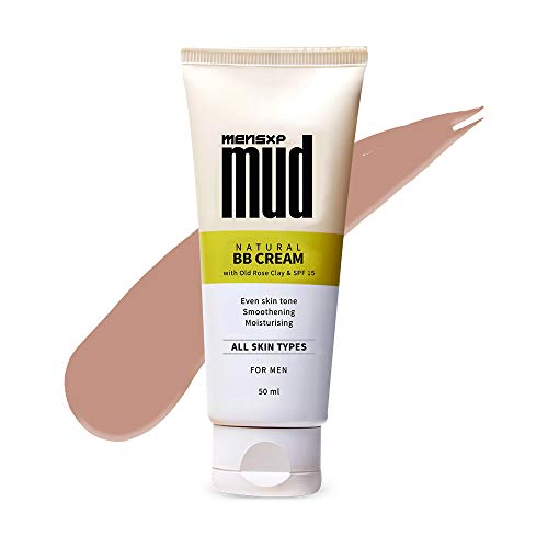Mensxp Mud Natural BB Cream For Men For Even Skin Tone 50 ml, Skin Shade 028 - Medium Deep