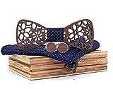 BeForBio - Pajarita de madera hecha a mano, elegante y a la moda, accesorio de moda o idea de...
