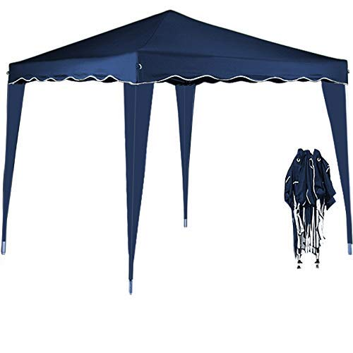 Deuba 3x3 Pop Up Gazebo Capri Canopy Shelter Party Tent Marquee Wedding Outdoor Free Carry Bag Pegs Ropes Colour Choice (Blue)