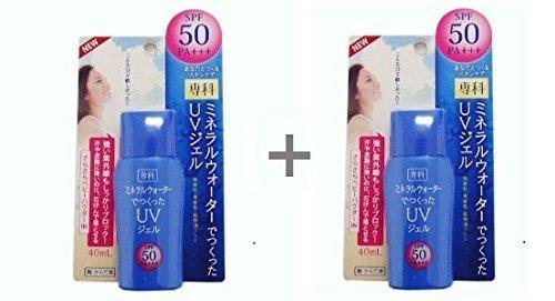 Shiseido SENKA Mineral Water UV Gel SPF50 PA+++ 40ml [Pack of 2]
