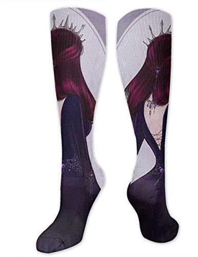 v-kook-v Böse Königin Socken sportlich über die Wade Socken-Unisex Kniehohe Compression Soccer Socks Dress Socks