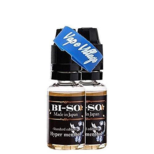 [2本セット& VAPE VILLAGE ロゴ入りVAPEバンド付き] 電子タバコ リキッド 国産ブランドBI-SO Liquid 15ml (ハイパーメンソール x2)