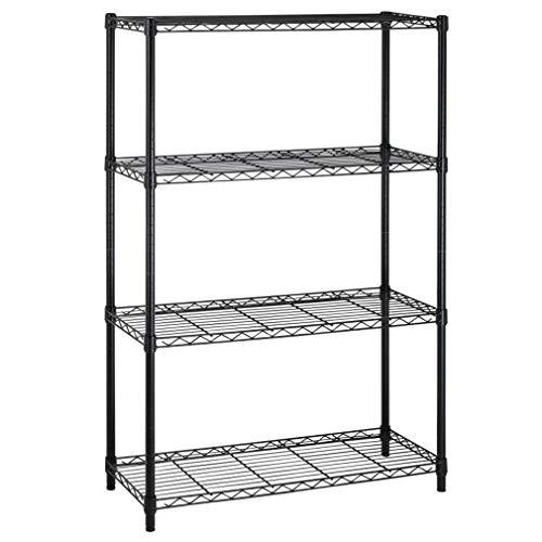4-Shelf Storage Shelves Heavy Duty Shelving Unit for Kitchen Metal Shelves Garage Organizer Wire Rack Shelving Storage Unit Shelf