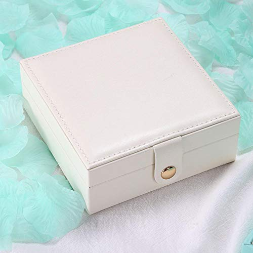 Women S Pu Leatherjewelry Box Travel Carries Necklace Earrings Ring Bracelet Lipstick Storage Case Organizer Holder Accessories-White_Jewelry_Box