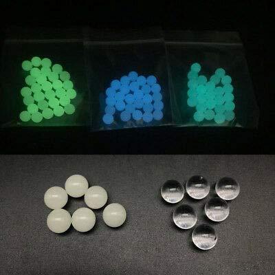10 Pack 6mm Quartz Pearls Balls Insert Luminous Glowing Quartz Pearl (Blue/Green)