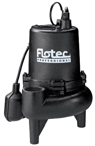 Flotec E75STVT Sewage Pump, 170 Gpm, 3/4 Hp, 115 V, 9 A, 60 Hz, 2 In Npt Outlet, Cast Iron
