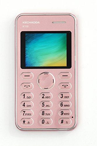 KECHAODA K116 Plus Mobile Phone with External Memory Card Slot and VGA Camera (Dual SIM, Rose Gold)