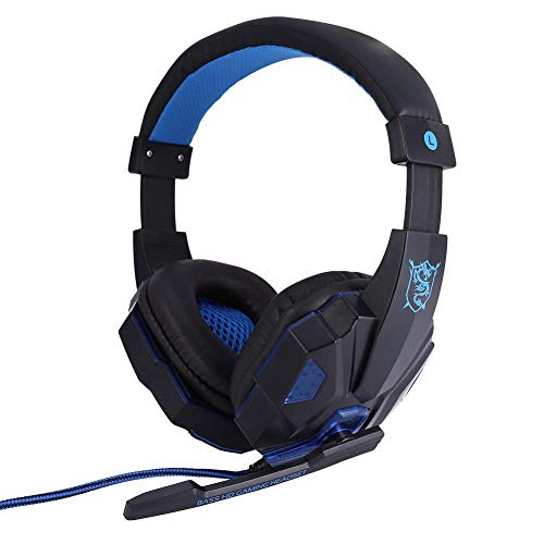 Check Out This Over-Ear Stereo Headphones,Stereo Gaming Headphone with Mic,Wired Headsets with LED L...