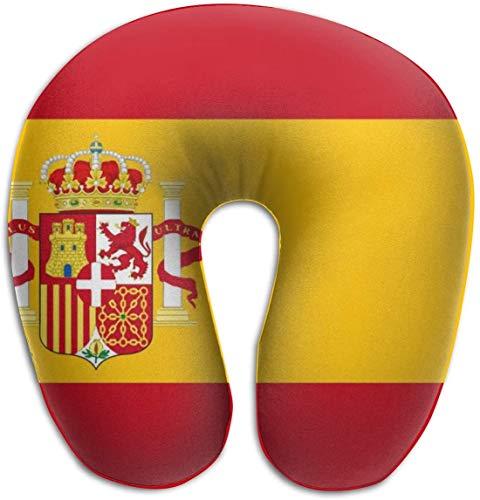 Memory Foam Neck Kussen Spanje Vlag U-Shape Reizen Kussen Ergonomisch Gecontroleerd Ontwerp Wasbare Cover voor Vliegtuig Trein Auto Bus Office