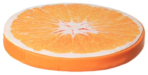 Brandsseller Cojín decorativo para silla (40 x 4 cm), diseño de fruta, color naranja