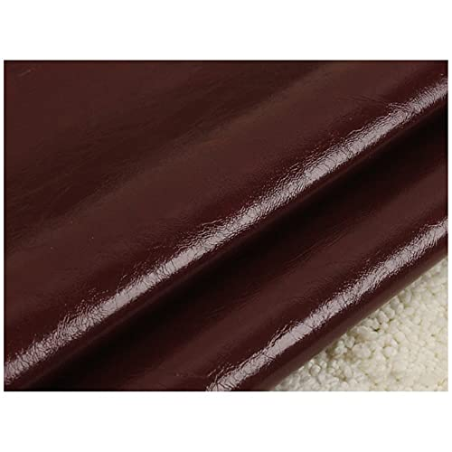 Tessuto in Pelle Oil Wax, Ecopelle Morbida, Pelle Sintetica in Poliuretano 138 X100 Cm, per Realizzare Borse Artigianali Cucito Fai da Te Colori Assortiti(Color:35#)