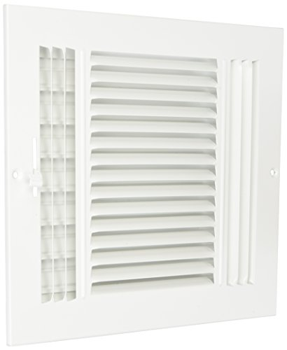 10' x 8' 3-WAY SUPPLY GRILLE - DUCT COVER & DIFUSER - Flat Stamped Face - White