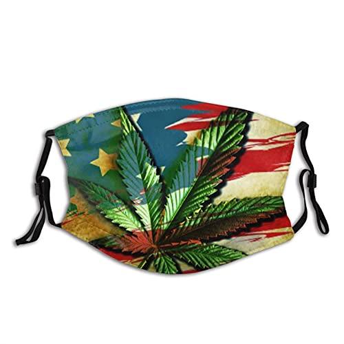 Bandera de marihuana con diseño de hoja de marihuana, transpirable, para cuello, máscara, polvo, resistente al viento, transpirable, pesca, senderismo, correr, ciclismo