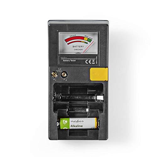 NEDIS Batterie-Tester | AA/AAA/C/D/Knopfzelle / 9V Schwarz