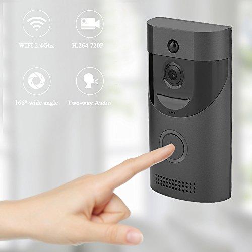 Naroote Videocitofono WiFi, Videocitofono Smart WiFi Senza Fili Videocitofono Rilevazione PIR Visione Notturna per la Sicurezza Domestica