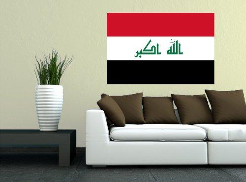Kiwistar Wandtattoo Sticker Fahne Flagge Aufkleber Irak 120 x 80cm