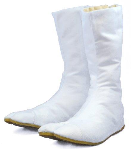 Chaussures de Ninja Blanche Bottes Tabi Japonaise Authentique (JP 30 approx. FR 45 EU 45 UK 9)