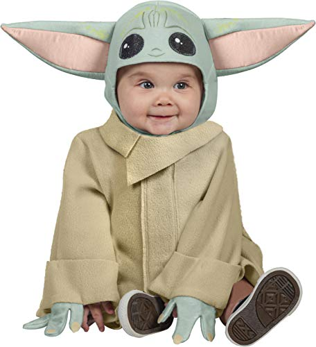 Rubies disfraz oficial de Disney Star Wars, The Child Toddler Costume, Kids Fancy Dress, Size Toddler 1-2 Years, Mandalorian