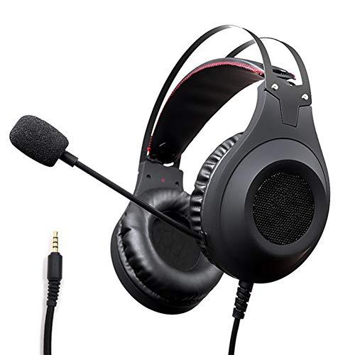 Yanghao Kopfhörer-Bass-Stereo-Headset für Handy Xiaomi PS4 Xbox PC-Kopfhörer mit Mic Earbuds Gaming Kopfhörer,B