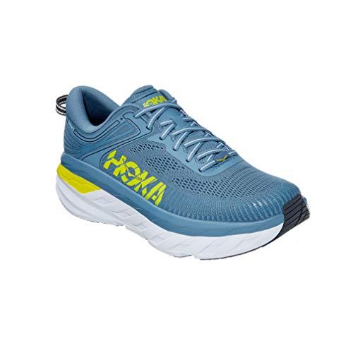 HOKA one one Homme Bondi 7 Textile Synthetic Provincial Blue Citrus Formateurs 42 EU
