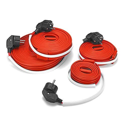 TuToy 400W 240W 160W 80W Cable De Calefacción Eléctrica Cable Tubo De Agua Flexible Cinta Calefactora A Prueba De Congelación Eu Plug - 1M