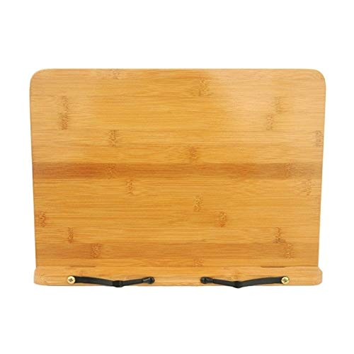 POJAP Bamboe Opvouwbare boekenstandaard boekenhouder Kookboek Handboeken Document Lezen Rest Bracket, Type:Light Board Large