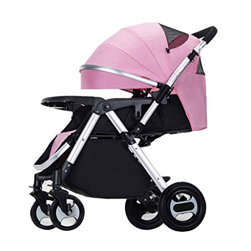 Lowest Price! High Landscape Aluminum Alloy Baby Stroller Can Sit Fold Baby Trolley Shock Absorber P...