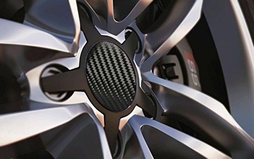 Standard ajustement universel 80 mm Centre de roue en alliage Cap badges, carbone noir