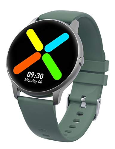 YAMAY Smart Watch for Men Women 2020 Ver. IP68 Waterproof, Fitness Tracker Heart Rate Monitor Sleep Tracker Digital Watch, Stylish Smartwatch for Android Phones Compatible iPhone Samsung (Green)