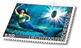 Liechtensteiner Post | Malachit | Briefmarke | mit