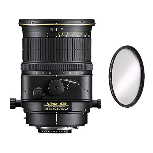 Nikon PC-E Micro-NIKKOR 45mm f/2.8D ED Tilt-Shift Lens + UV Protective Filter Combo (International Model)