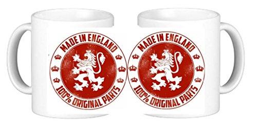 Hecho en Inglaterra 100% piezas originales taza de café de cerámica más posavasos exclusivo de personalizadojust4u