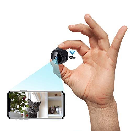 Mini Camara,1080P HD Micro Camara Vigilancia Grabadora de Video Portátil con IR Visión Nocturna Detector de Movimiento, Camara Seguridad Pequeña Inalambrica Interior/Exterior