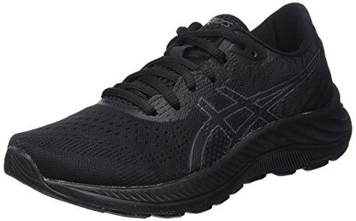 Asics Gel-Excite 8, Road Running Shoe Mujer, Black/Carrier Grey, 41.5 EU