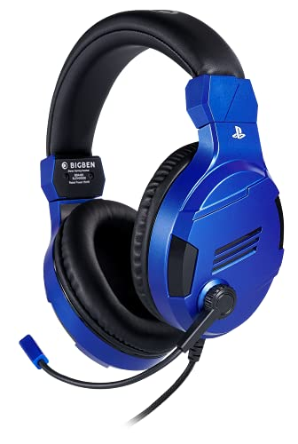 Bigben Cuffie Gaming V3 PS4 PS5 Ufficiale Sony PlayStation, Blue