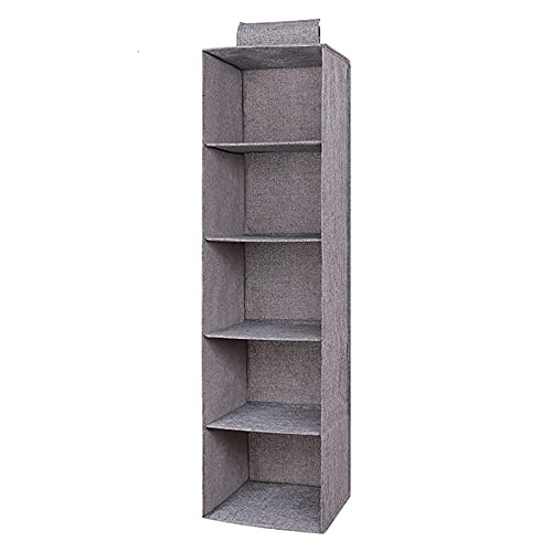 Foldable Hanging Closet Organizer Portable Linen Cotton Hanging Storage Bag for Closet Drawer Bedrooms Laundry Room