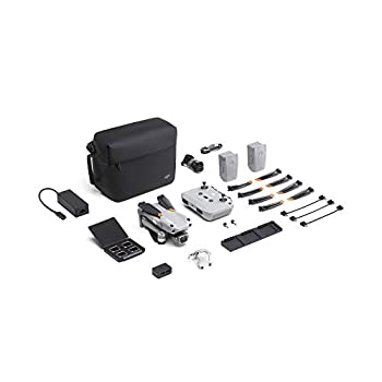 DJI Air 2S Fly More Combo - Drone with 3-Axis Gimbal Camera 5.4K Video 1-Inch CMOS Sensor 4 Directions of Obstacle Sensing 31-Min Flight Time Max 7.5-Mile Video Transmission MasterShots Gray