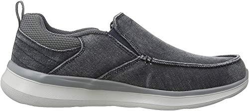 Skechers Delson 2.0 Larwin, Zapatillas sin Cordones para Hombre, Azul (Blue Canvas BLU), 41 EU