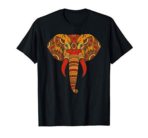 Arte Tribal del Elefante - Mandala del Elefante Espiritual Camiseta