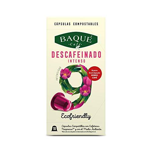 Cafés Baqué - 10 Capsulas Compatibles Nespresso Descafeina