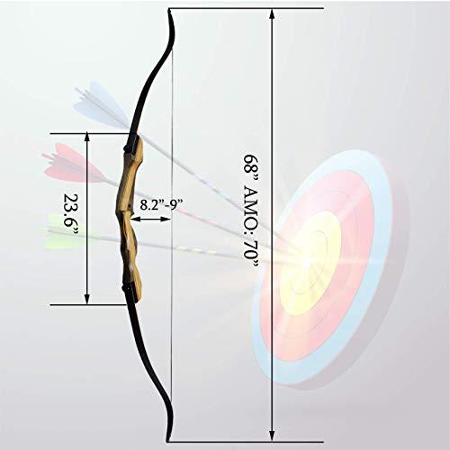 "Archery Recurve Takedown Bows Set 35lbs Hunting Target 56/"" /& Fiberglass Arrows"