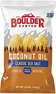 Boulder Canyon Coconut Oil Sea Salt Kettle Cooked Potato Chips 149 g, 149 g