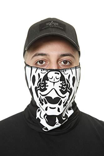 Code47 – Bandana para protección facial, pañuelo para el cuello estampado, bufanda para motociclista, esquí, moto