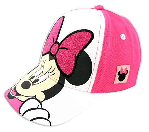 Disney Minnie Mouse Kids Hat, Little Girls Baseball Cap Ages 2-7, Pink/White, Toddler Age 2-4