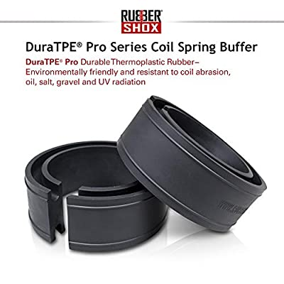 "U.S. RubberShox DuraTPE Series Front-Rear Car Coil Spring Buffer Cushion/Automotive Suspension Shock Absorber Retainer Booster Kit Universal Type - CSB Pro-B+, Vehicle Auto Parts 2.44""x 5.12"" (TD)"