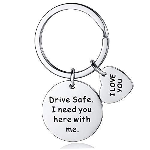 Drive Safe Keychain I Need You Here With Me Keychain Boyfriend Girlfriend Christmas Gifts I Love You Keyring Wife Husband Anniversary Birthday Gifts
