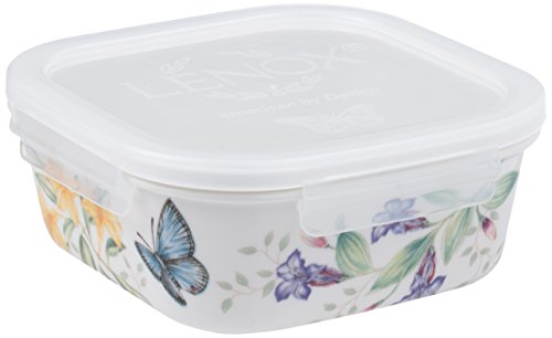Lenox Butterfly Meadow Serve and Store Container Bowl, Square