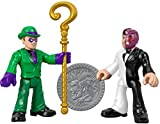 Imaginext Fisher-Price DC Super Friends The Riddler and Two Face Figures, Multicolor (GBL90)