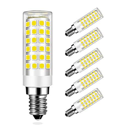 MENTA E14 LED Lampe Kaltweiß 6000K mit 76 SMD LEDs, 9W Ersatz 75W Halogenlampen, 750LM, 360° Abstrahlwinkel, E14 LED Birne, 5er Pack